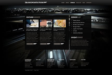 Template 40509 ( Services Page ) ADOBE Photoshop Screenshot