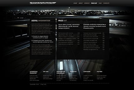 Template 40509 ( Price List Page ) ADOBE Photoshop Screenshot