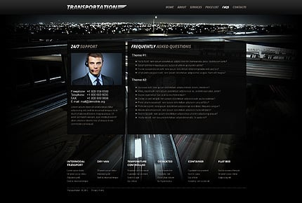 Template 40509 ( FAQs Page ) ADOBE Photoshop Screenshot