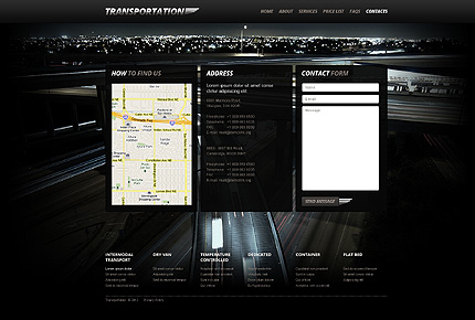 Template 40509 ( Contacts Page ) ADOBE Photoshop Screenshot