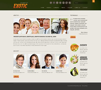 Template 40510 ( About Us Page ) ADOBE Photoshop Screenshot