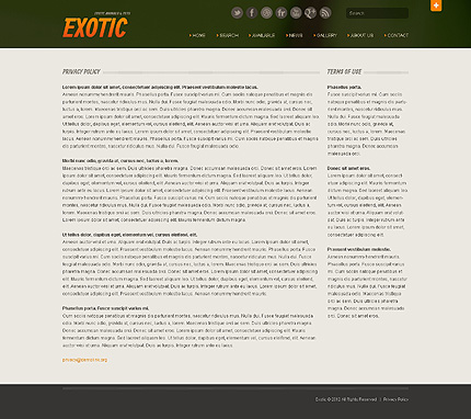 Template 40510 ( Privacy Policy Page ) ADOBE Photoshop Screenshot