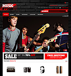 Music OpenCart  Template 40520