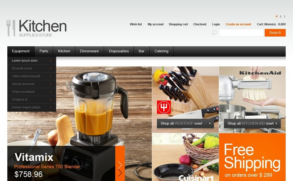 Züccaciye  Opencart Şablon New Screenshots BIG