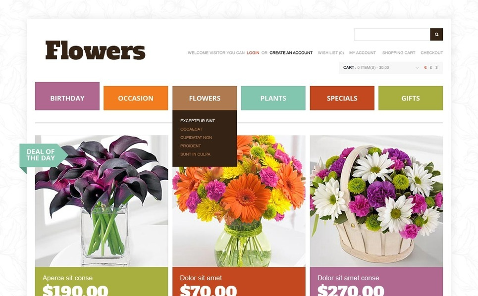 Virágüzletek OpenCart sablon New Screenshots BIG