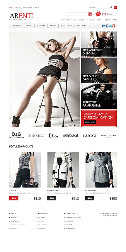 ZenCart Template 40544 Main Page Screenshot