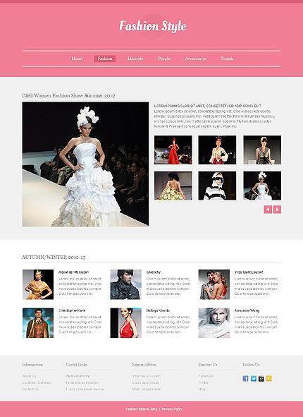 Template 40548 ( Fashion Page ) ADOBE Photoshop Screenshot