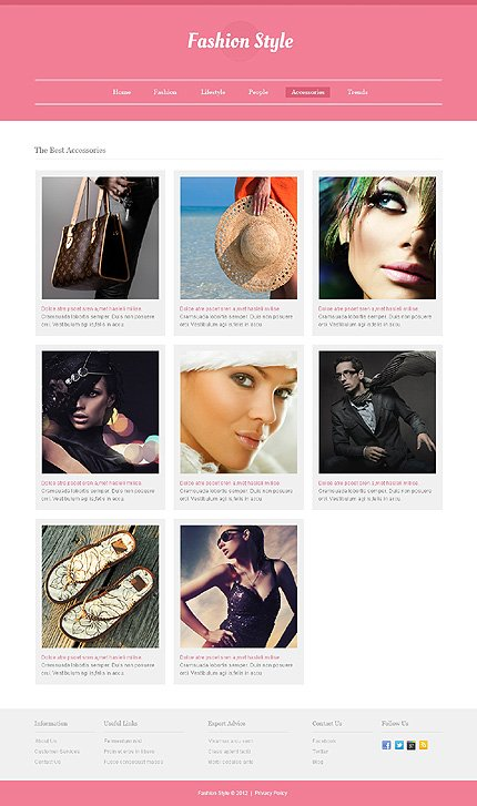 Template 40548 ( Accessories Page ) ADOBE Photoshop Screenshot