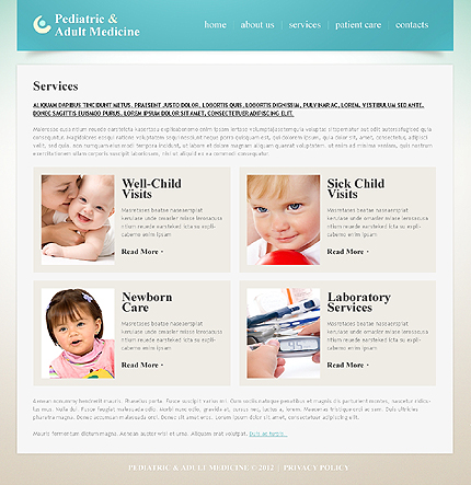 Template 40551 ( Services Page ) ADOBE Photoshop Screenshot
