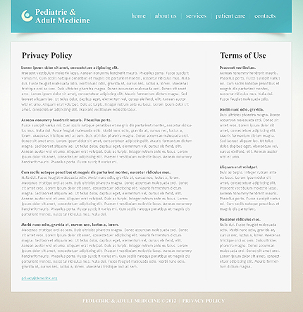 Template 40551 ( Privacy Policy Page ) ADOBE Photoshop Screenshot