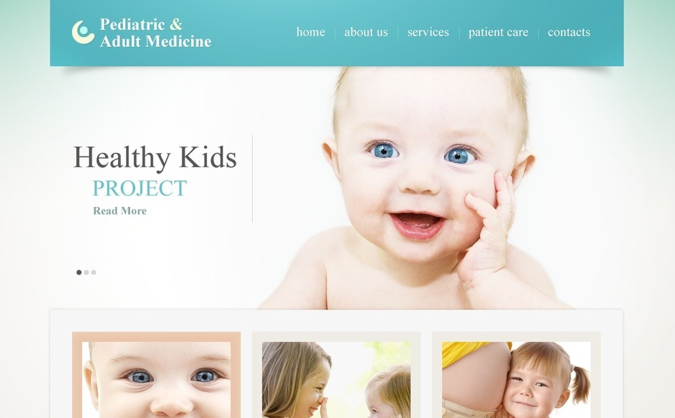 Шаблон сайту на тему педіатрія New Screenshots BIG