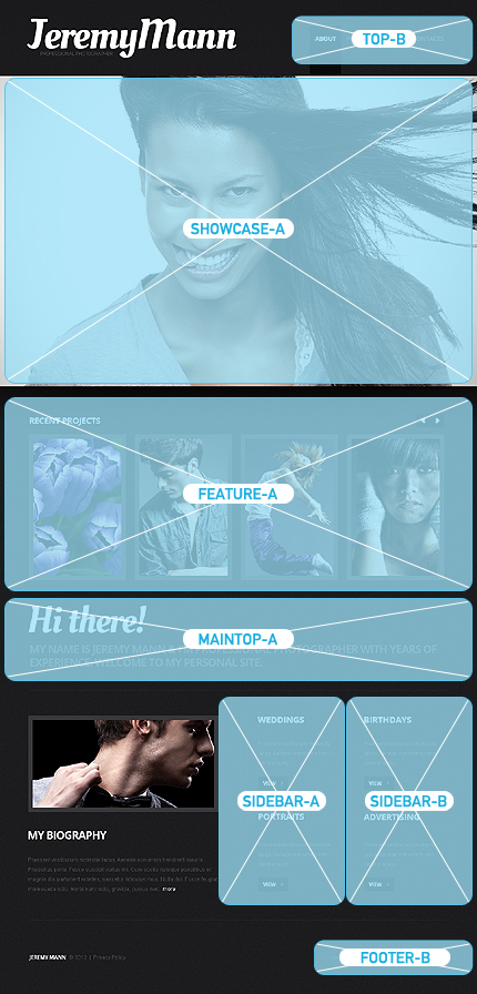 Joomla Theme/Template 40556 Main Page Screenshot