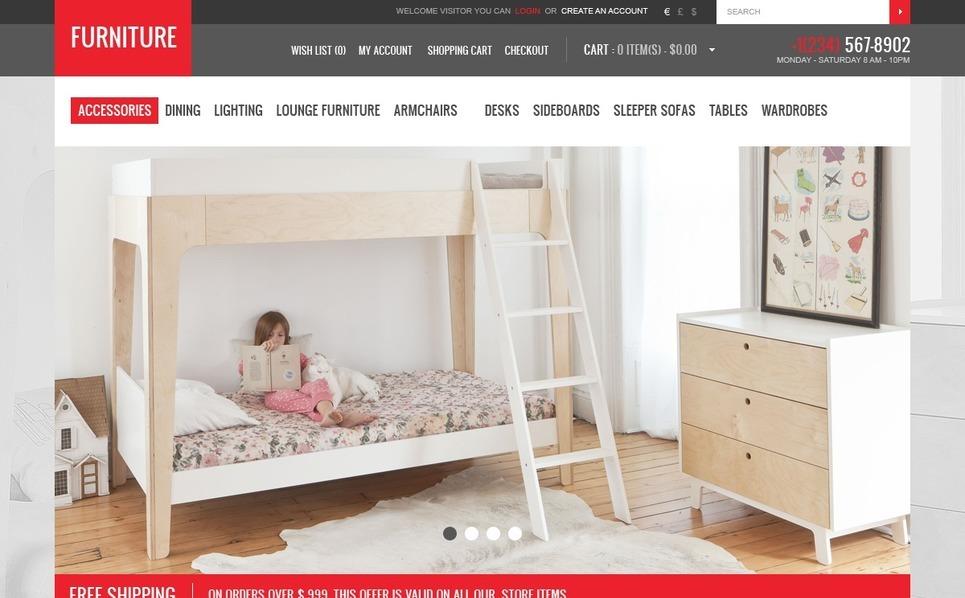 OpenCart Vorlage für Möbel  New Screenshots BIG