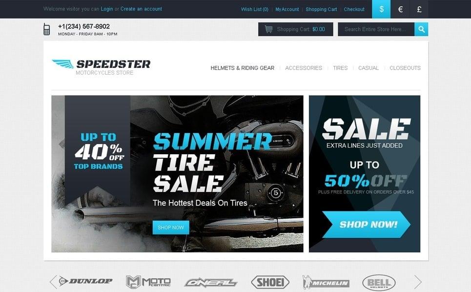 Szablon OpenCart #40569 na temat: sporty motorowe New Screenshots BIG