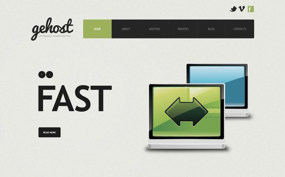 Joomla шаблон на тему хостинг New Screenshots BIG