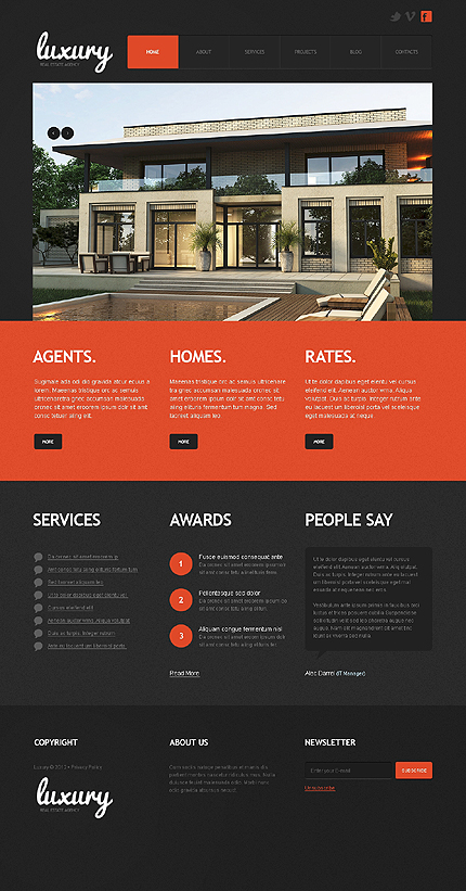 Joomla Theme/Template 40579 Main Page Screenshot