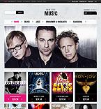 Music ZenCart  Template 40590