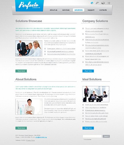 Template 40591 ( Solutions Page ) ADOBE Photoshop Screenshot