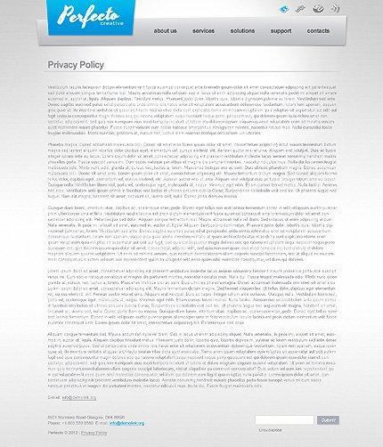 Template 40591 ( Privacy Policy Page ) ADOBE Photoshop Screenshot