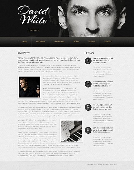 Personal Page Website Template 40592, Website Templates - Zeronese