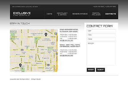 Template 40596 ( Contacts Page ) ADOBE Photoshop Screenshot