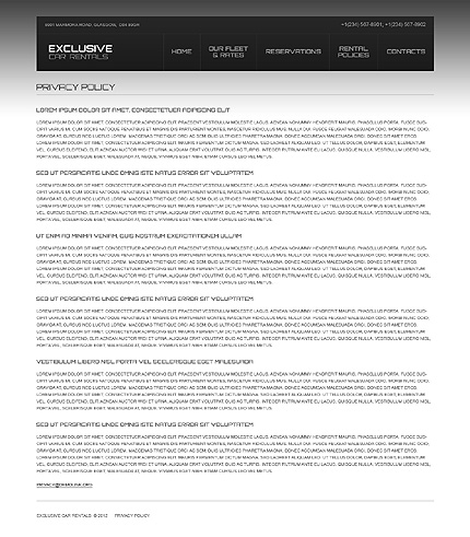 Template 40596 ( Privacy Policy Page ) ADOBE Photoshop Screenshot