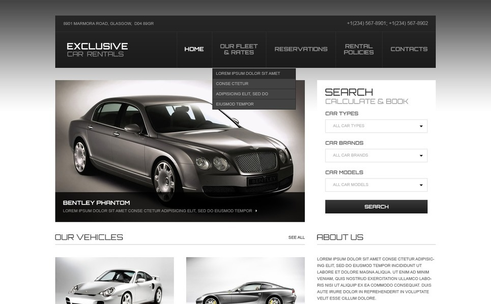 Szablon Strona Www #40596 na temat: wypożyczalnia samochodów New Screenshots BIG