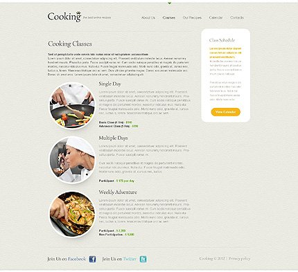 Template 40597 ( Courses Page ) ADOBE Photoshop Screenshot