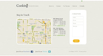 Template 40597 ( Contacts Page ) ADOBE Photoshop Screenshot