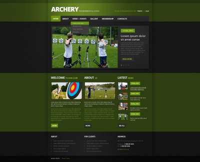 Archery Website Template #40595