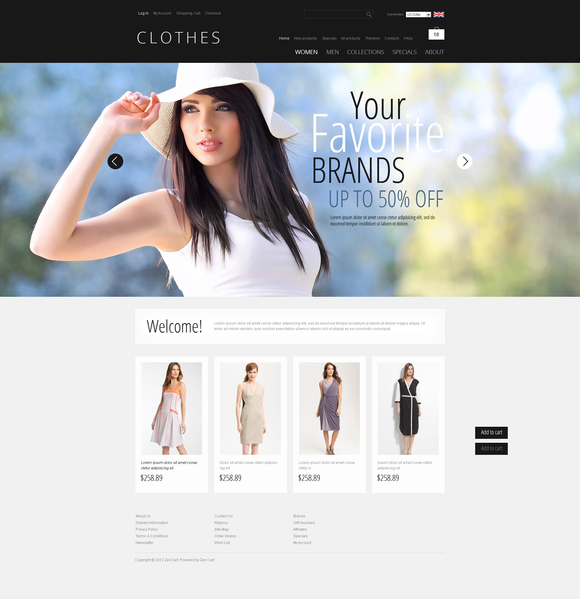 Clothes that Inspire ZenCart Template - screenshot