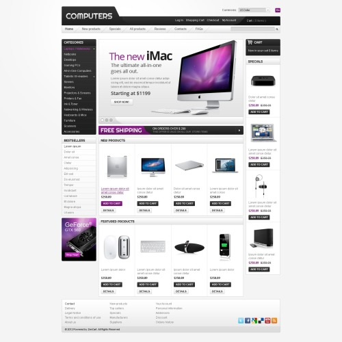 Computers - ZenCart Template