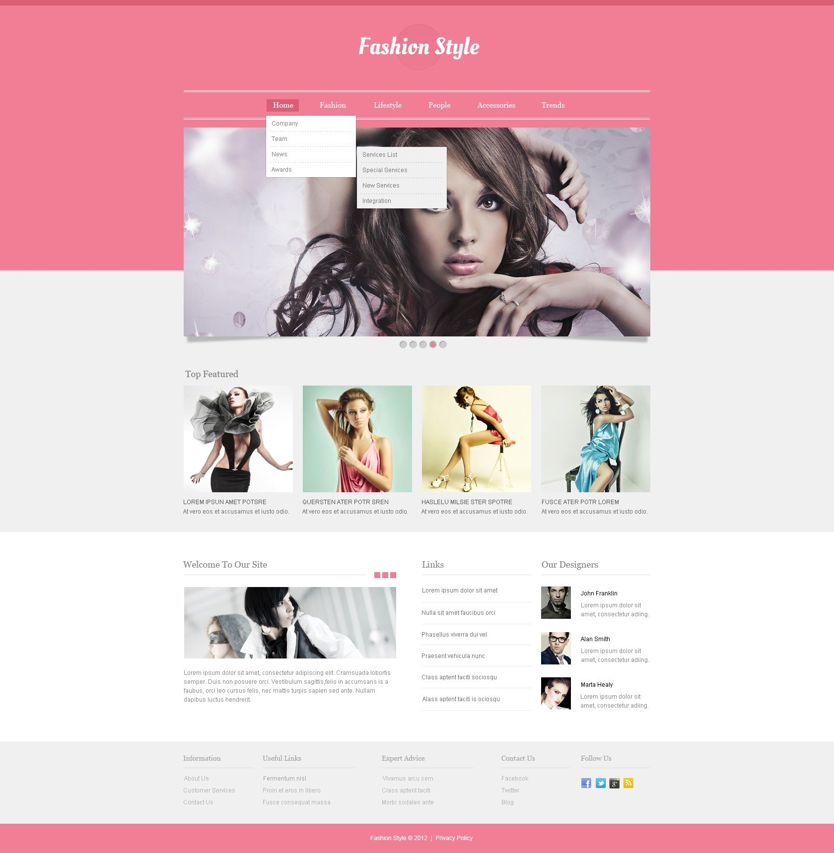 Fashion Responsive Website Template 40548