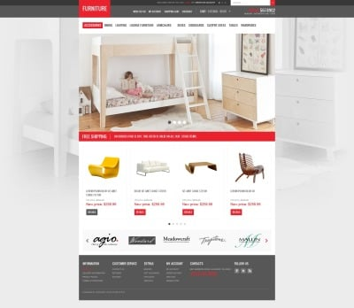 Furniture Creating Comfort OpenCart Template