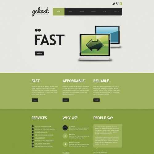 Gehost - Joomla! Hosting Website Template