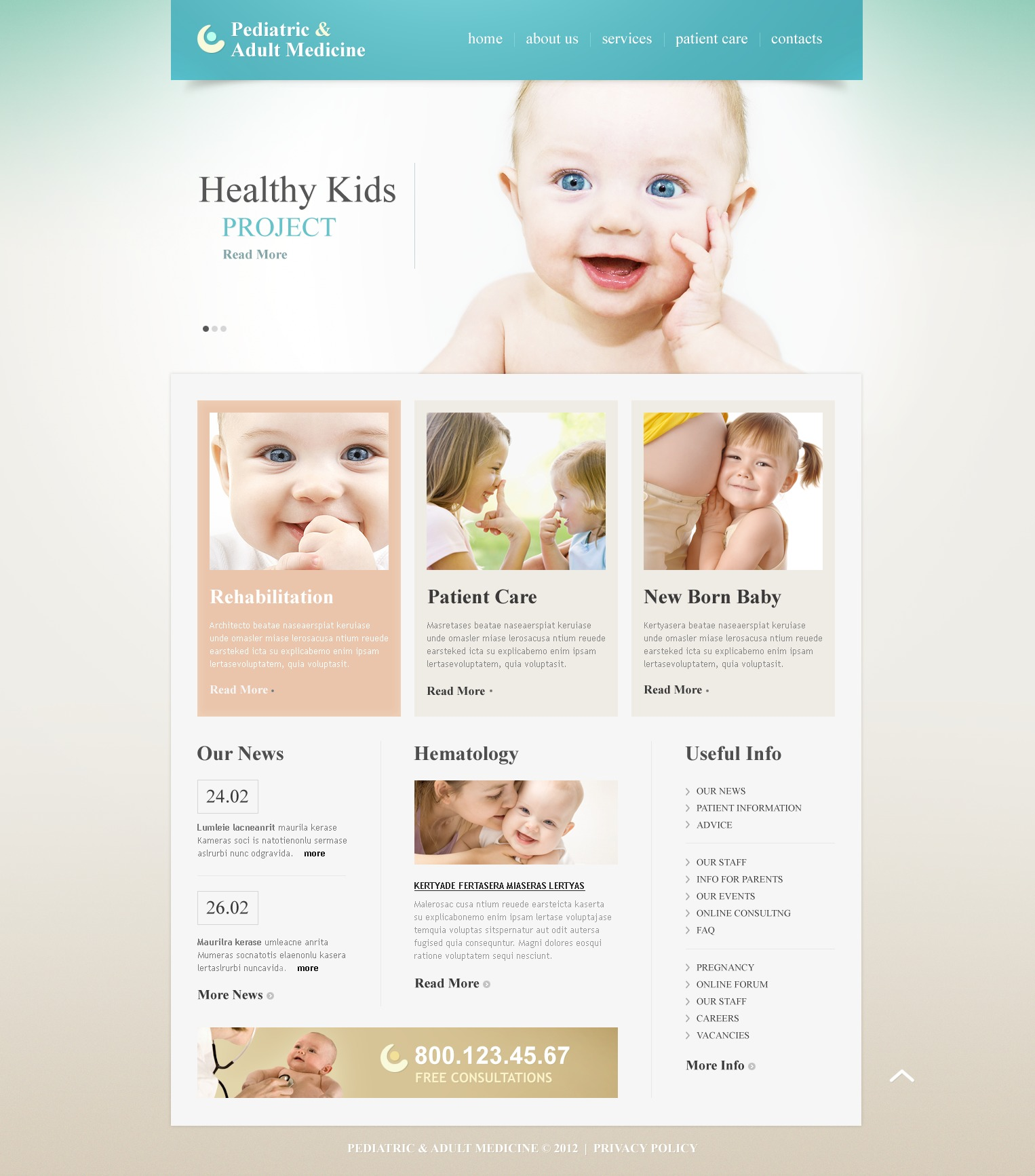 pediatrician website template