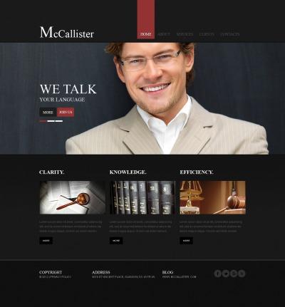 Lawyer Šablona Webových Stránek