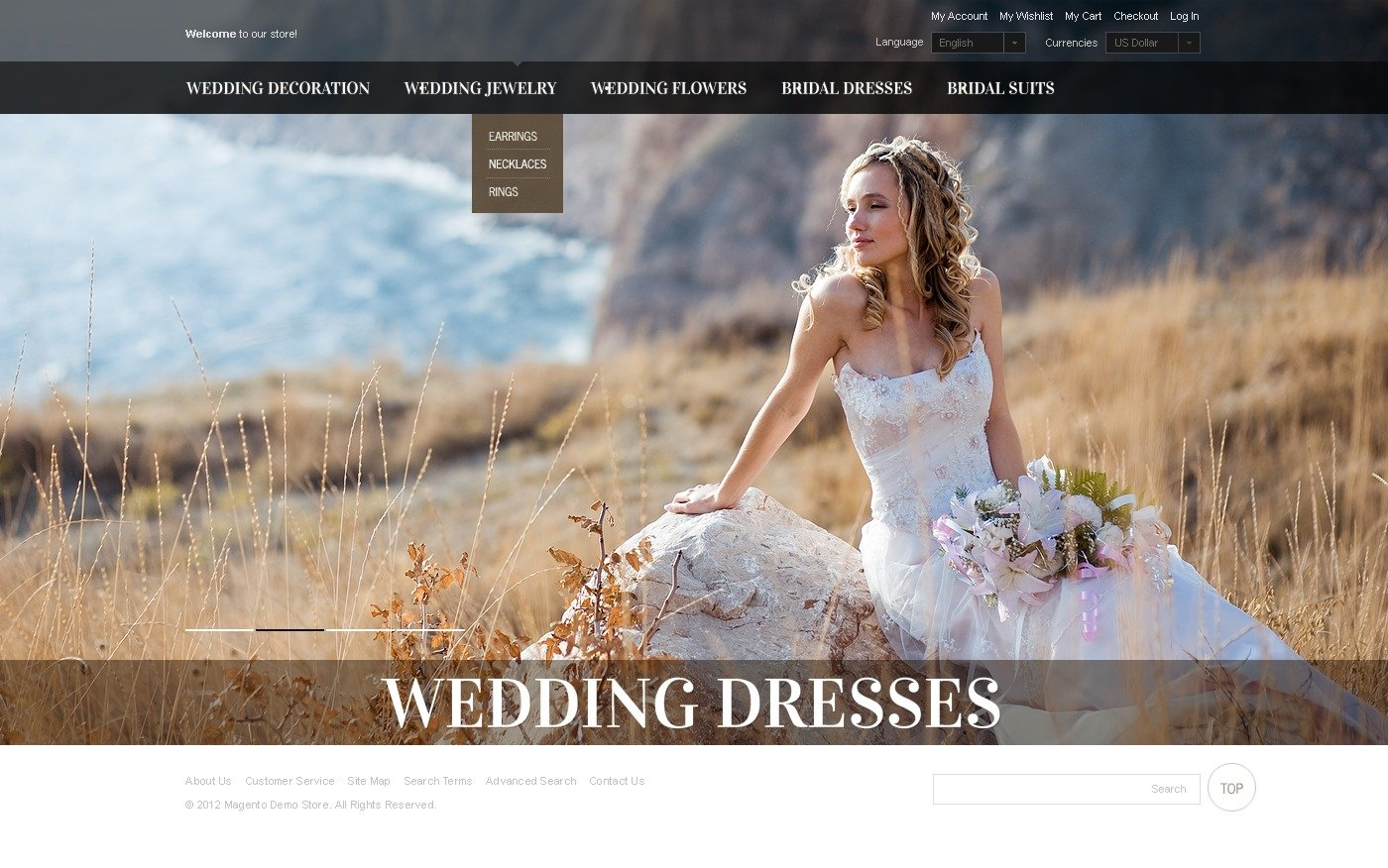 Wedding Dresses Magento Theme #40571