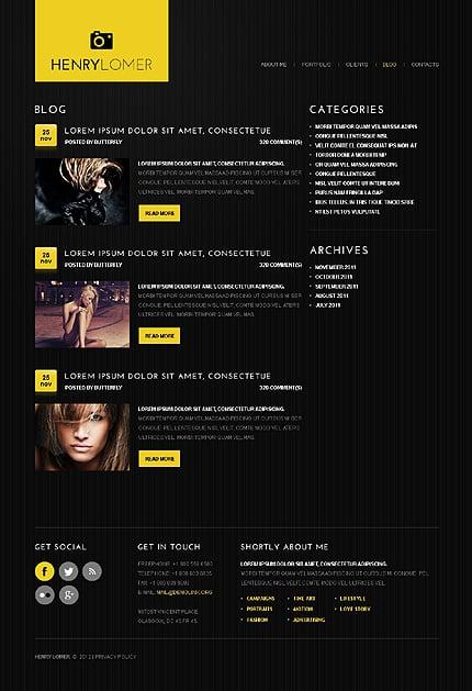 Template 40601 ( Blog Page ) ADOBE Photoshop Screenshot