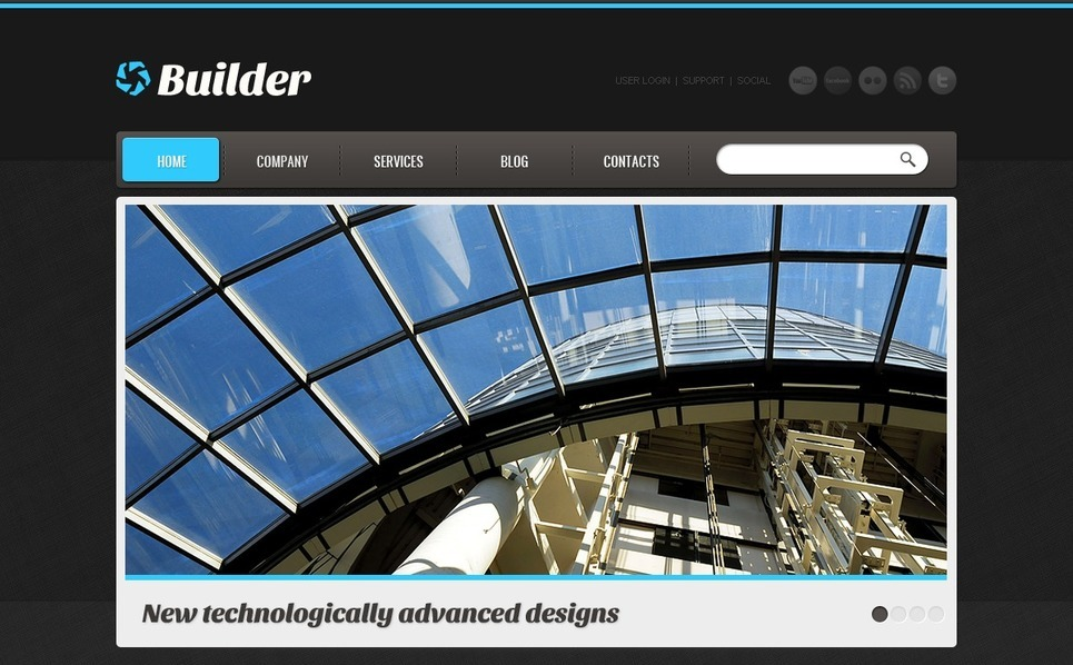 Template Joomla  #40606 per Un Sito di Società di Costruzioni New Screenshots BIG