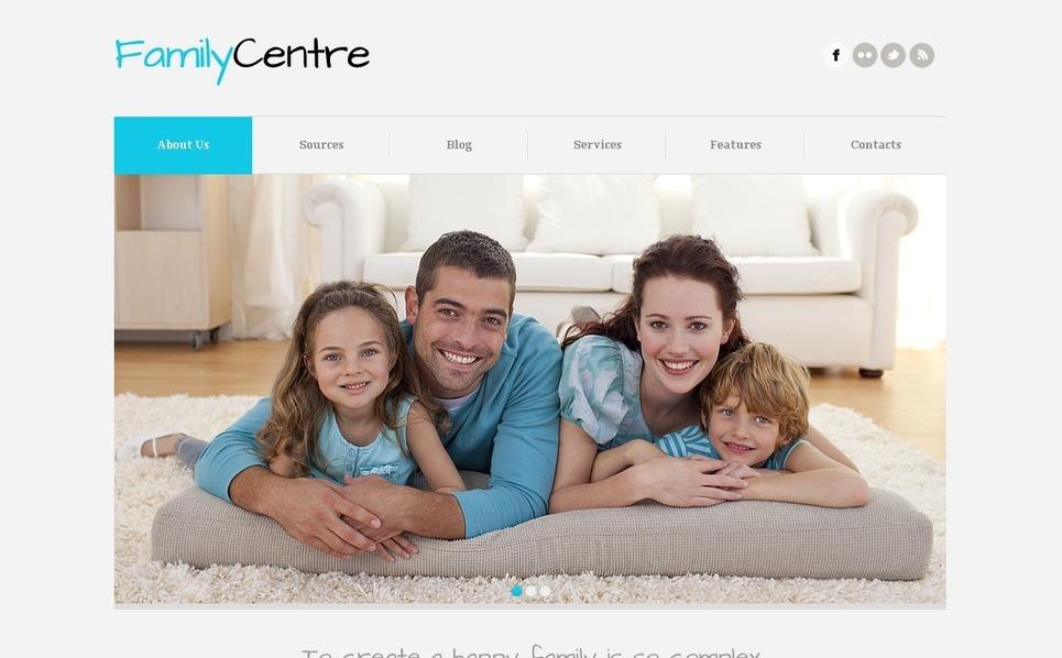 Joomla шаблон на тему сімейний центр New Screenshots BIG