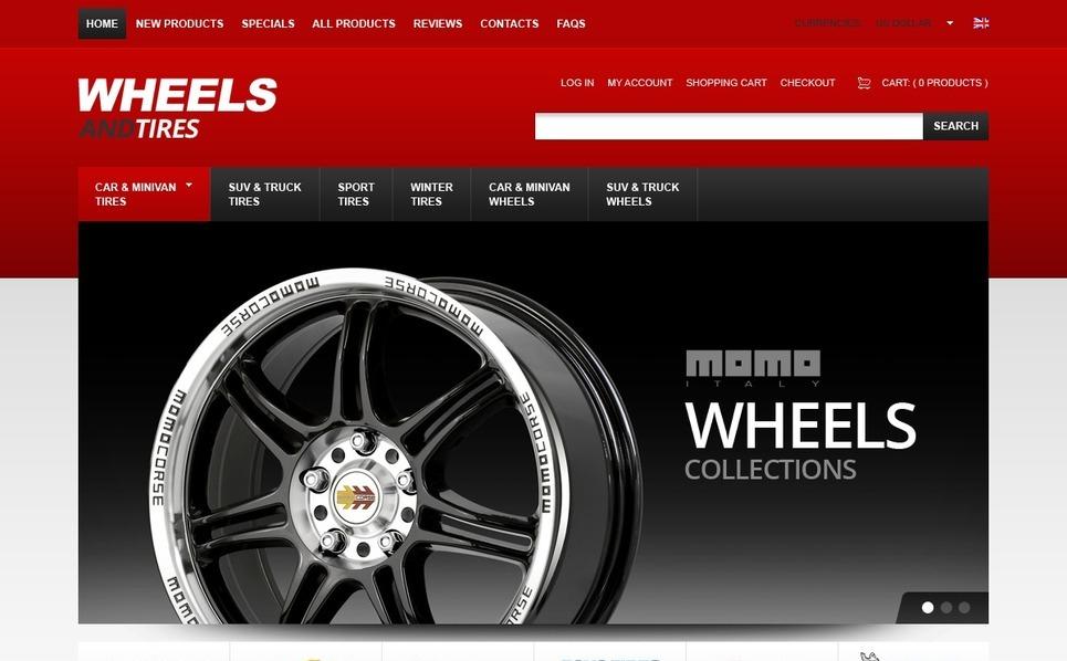 ZenCart шаблон на тему колеса и шини New Screenshots BIG