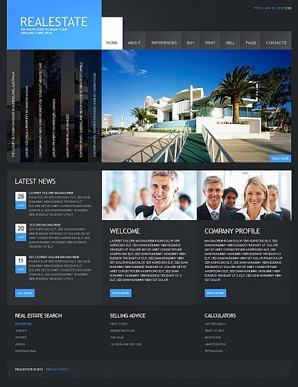 ADOBE Photoshop Template 40622 Home Page Screenshot