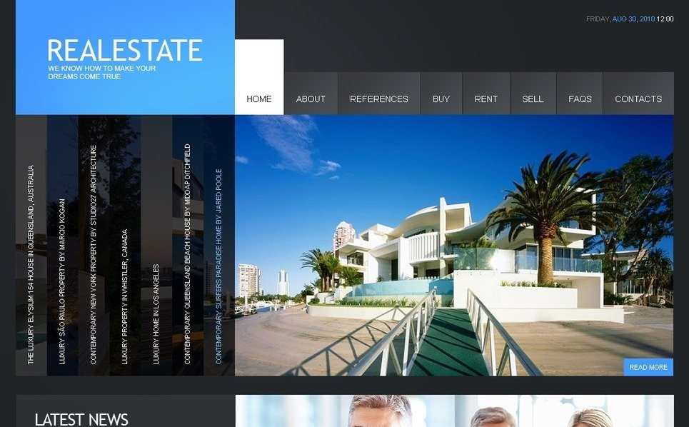 Plantilla Flash CMS #40622 para Sitio de Agencia inmobiliaria New Screenshots BIG