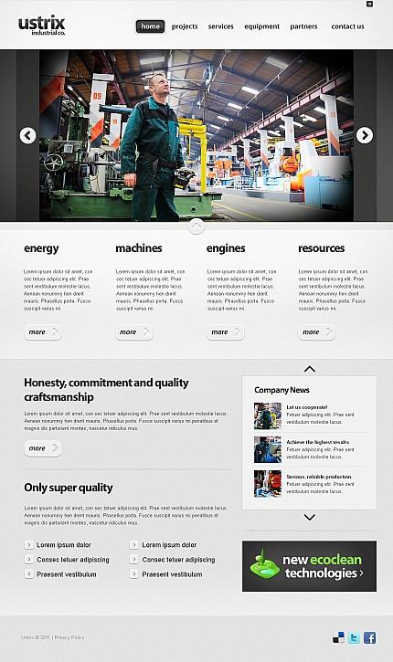 ADOBE Photoshop Template 40623 Home Page Screenshot