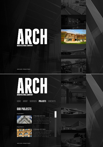 ADOBE Photoshop Template 40626 Home Page Screenshot