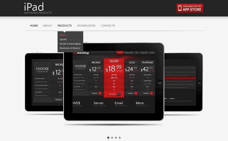 Flash CMS Template over Softwarebedrijf  New Screenshots BIG