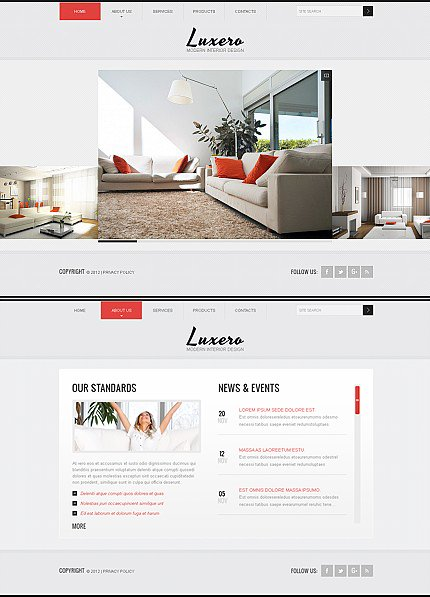 ADOBE Photoshop Template 40632 Home Page Screenshot