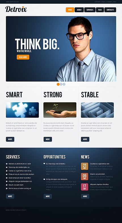 ADOBE Photoshop Template 40635 Home Page Screenshot