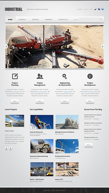 ADOBE Photoshop Template 40638 Home Page Screenshot